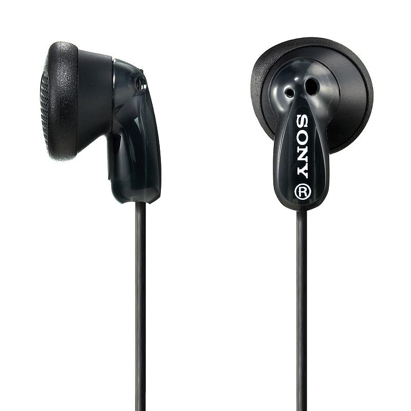 Sony Black Earbuds : Neodymium magnet delivers powerful sound. High-frequency response offers rich quality. Built-in ear pads provide complete comfort. : Compatible with most standard line-in jacksFor information about the modified return policy, please click here This product is not eligible for promotional offers and coupons. However, you are able to earn and redeem Kohl's Cash and YES2YOU Rewards on this product. Size: One Size. Color: Black. Gender: Unisex. Age Group: Adult.
