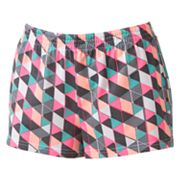 SO Geometric Cheer Shortie Shorts - Juniors