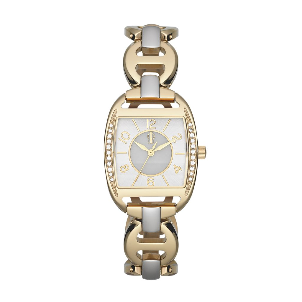 Jennifer Lopez Women's Crystal Two Tone Stainless Steel Watch