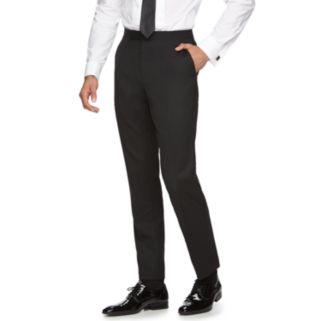 Men's Marc Anthony Slim-Fit Flat-Front Wool Tuxedo Pants