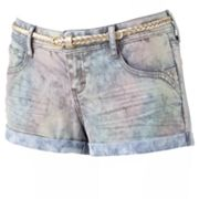 Candie's Tie-Dyed Sparkle Shortie Shorts - Juniors
