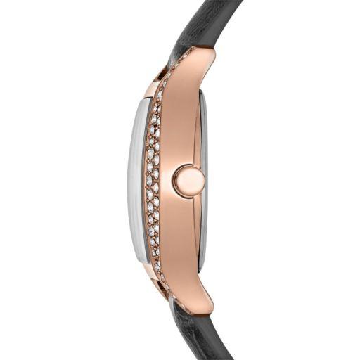 Jennifer Lopez Women's Crystal Leather Watch