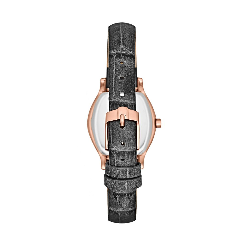 Jennifer Lopez Women's Crystal Leather Watch