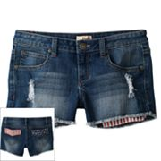 Mudd Stars and Stripes Denim Shorts - Girls Plus