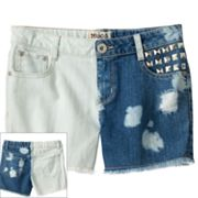 Mudd Distressed Denim Shorts - Girls Plus