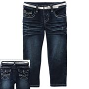 Mudd Belted Denim Capris - Girls 7-16