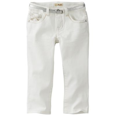 Mudd Belted Solid Capris - Girls 7-16