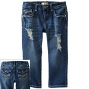 Mudd Distressed Denim Capris - Girls Plus