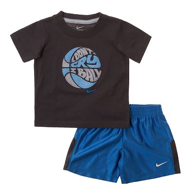 Nike I Don't Cry, I Ball Tee and Shorts Set - Toddler