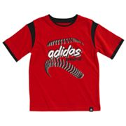 adidas Mock-Layer Skeleton Baseball Tee - Boys 4-7x