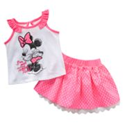 Disney Mickey Mouse and Friends Minnie Mouse Tank and Skirt Set - Baby