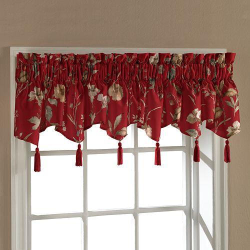United Curtain Co. Charlotte Triple Ascot Window Valance - 54'' x 15''