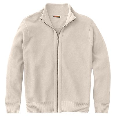 Dockers Solid Zip-Front Sweater - Big and Tall