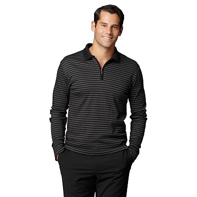 Van Heusen Slim-Fit Striped 1/4-Zip Polo