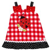 Youngland Ladybug Check Sundress - Toddler