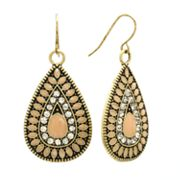 Mudd Simulated Crystal Teardrop Earrings