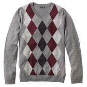 Apt. 9 Argyle Merino V-Neck Sweater