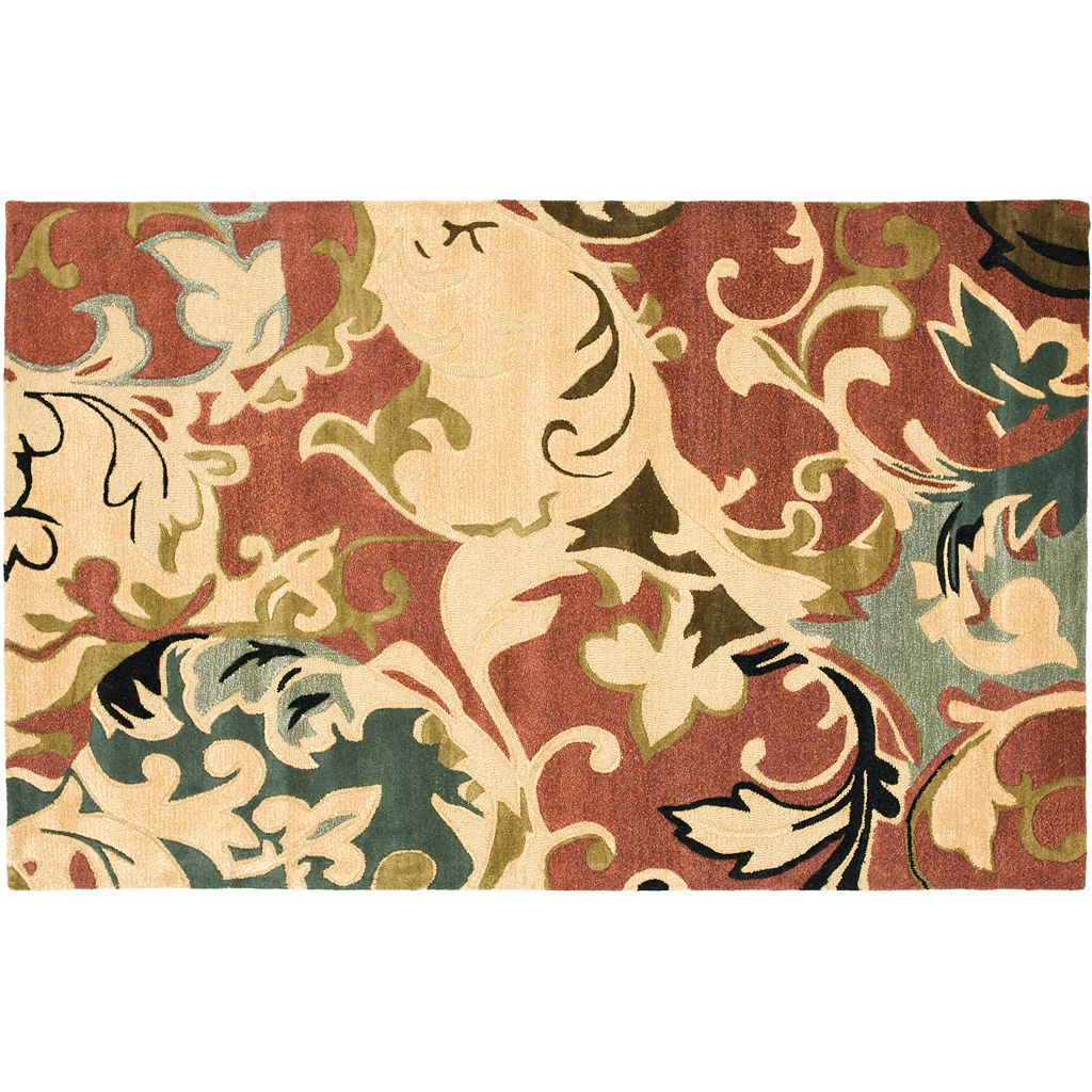 Safavieh Soho Rust Floral Rug - 7'6'' x 9'6''