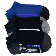 Eddie Bauer 3-pk. Half Cushion No Show Socks - Boys 7-11