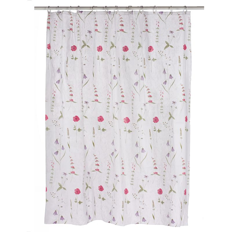 Home Classics Poppies Vinyl Shower Curtain