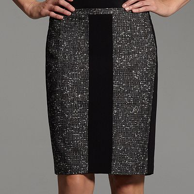 Narciso Rodriguez for DesigNation Tweed Pencil Skirt
