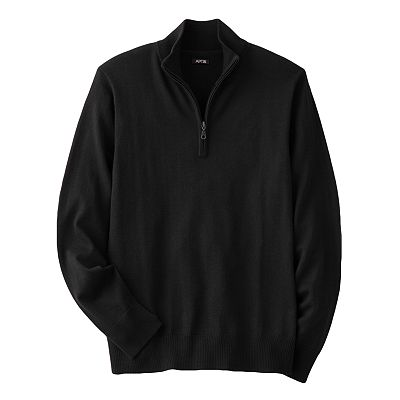Apt. 9 Merino 1/4-Zip Sweater - Big and Tall