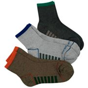 Eddie Bauer 3-pk. Technical Half Crew Socks - Boys 7-11