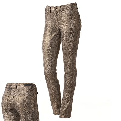 Rock and Republic Berlin Snakeskin Foil Skinny Jeans