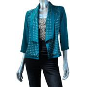 Rock and Republic Embellished Open-Front Jacket