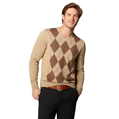 Arrow Argyle V-Neck Sweater