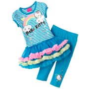 Hello Kitty Rainbow Tutu Tunic and Capri Leggings Set - Toddler