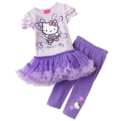 Hello Kitty Ballerina Tutu Tunic and Capri Leggings Set - Toddler
