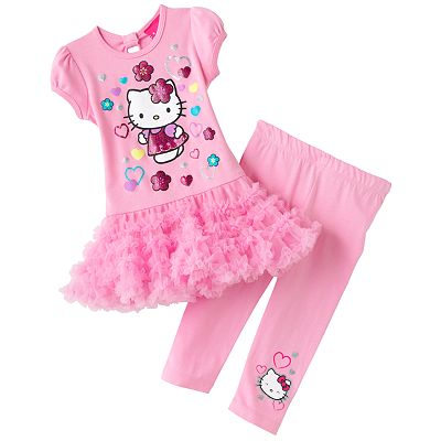 Hello Kitty Tutu Tunic and Capri Leggings Set - Toddler