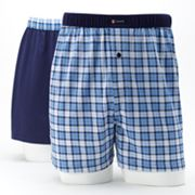 Chaps 2-pk. Plaid Knit Boxers