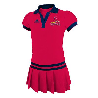 adidas St. Louis Cardinals Polo Dress - Baby