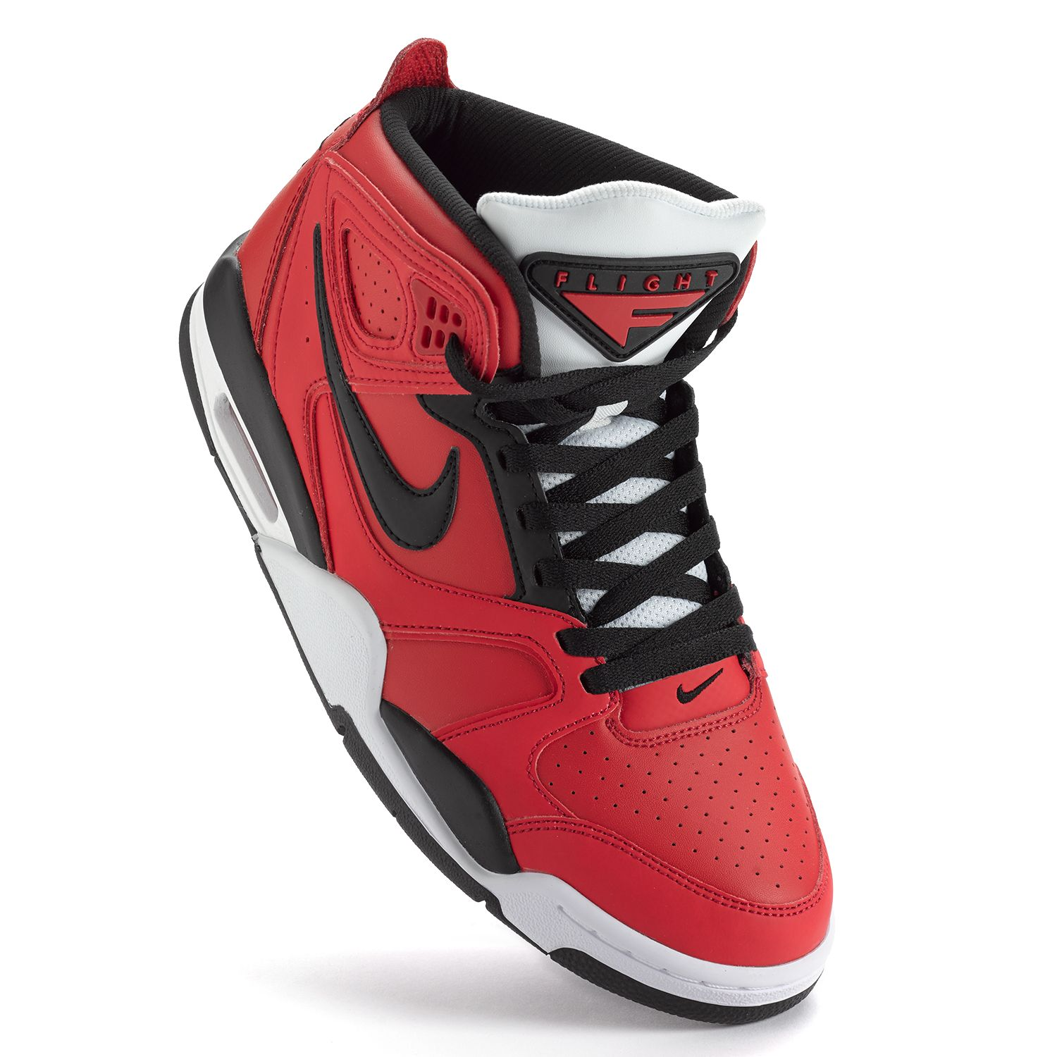 Nike Red Air Flight Falcon High-Performance Basketball Shoes - Men