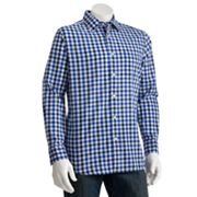SONOMA life + style Gingham Checked Poplin Casual Button-Down Shirt