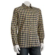 SONOMA life + style Checked Poplin Casual Button-Down Shirt