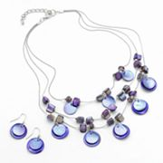 SONOMA life + style Bead Multistrand Necklace and Drop Earring Set