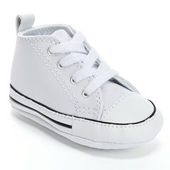 Baby Converse First Star Leather Crib Shoes