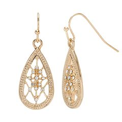 LC Lauren Conrad Simulated Crystal Teardrop Earrings