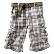 Urban Pipeline Plaid Messenger Cargo Shorts - Boys 8-20