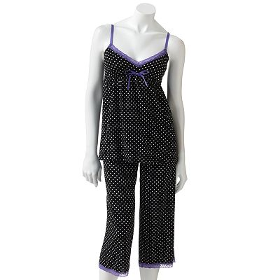 SO Lace-Trim Pajama Set - Juniors'