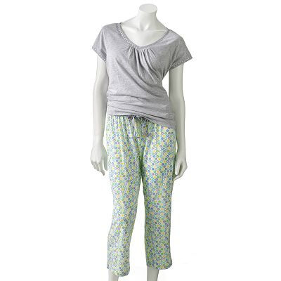 Croft And Barrow Knit Pajama Gift Set - Petite