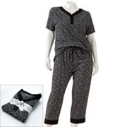 Croft and Barrow Printed Pajama Gift Set - Women's Plus