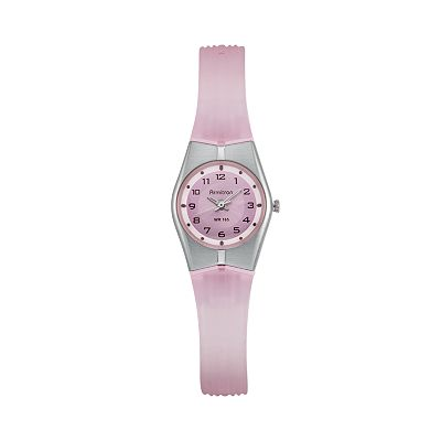Armitron Silver Tone and Pink Resin Watch - 25/6355PKKT - Women