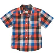 OshKosh B'gosh Plaid Woven Button-Down Shirt - Toddler