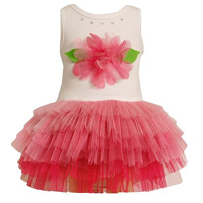 Bonnie Jean Floral Tutu Dress - Toddler