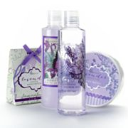 Lila Grace 4-pc. Lavender Bath Organza Tote Gift Set