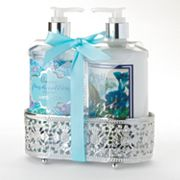 Lila Grace Lavender Hand Soap and Hand Lotion Caddy Gift Set